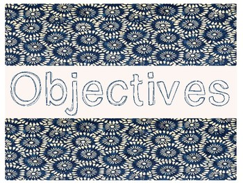 Objectives/Standards Posters