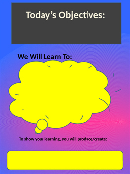 Objectives and Products Posters