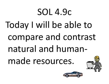Objectives for SOL 4.9 Earth Resources