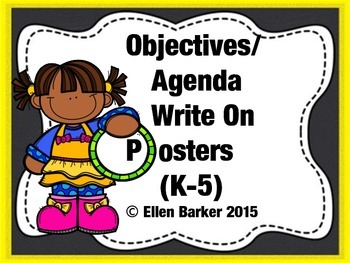 Objectives/Agenda Write On Posters