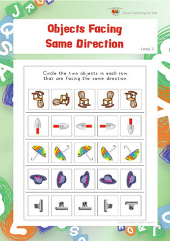 Objects Facing Same Direction (Spatial Skills Worksheets)