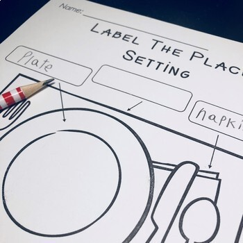 Objects Labeling Center Activities - Bicycle, Place Setting, Fire Truck & more