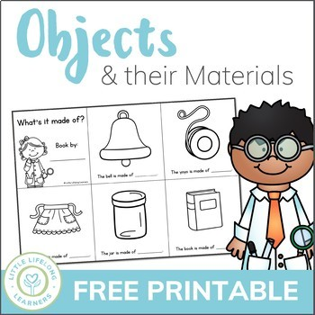 Objects and their Materials - A science sight word mini book - FREE