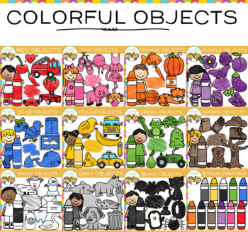Objects in Color Clip Art