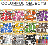 Objects in Color Clip Art Bundle