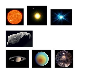 Objects in Space: Classification Activity