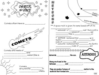 Objects in Space - Comets, Meteors, Asteroids