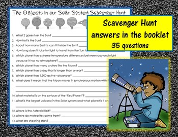 Objects in the Solar System Information Booklet; Scavenger Hunt, Application