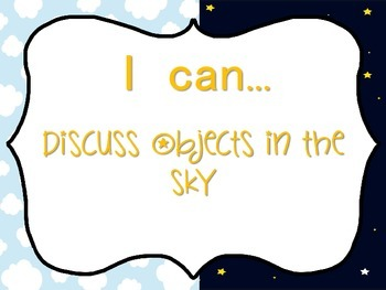 Objects in the sky (lesson plan and activities)