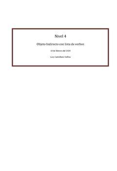 Objeto Indirecto con lista de verbos y ejercicios