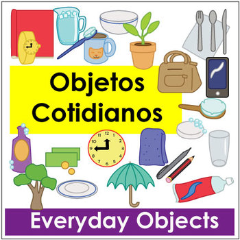 Objetos Cotidianos - Everyday Object Vocab Flashcards and