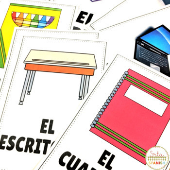 School supplies vocabulary games & worksheets- Spanish