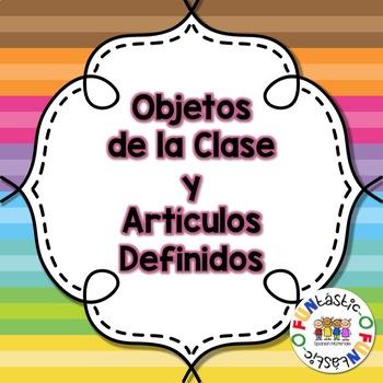 Objetos de la Clase y Artículos Definidos Worksheets