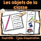 Objets dans la classe - 2 jeux d'association - Ensemble - Bundle