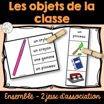 Objets dans la classe - 2 jeux d'association - Ensemble