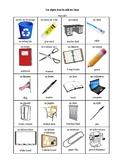 Objets dans la salle de classe - French classroom objects