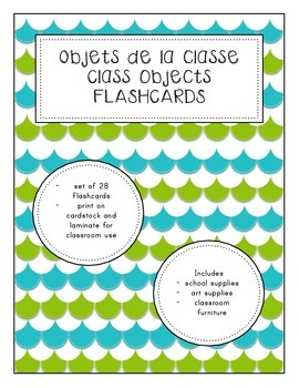 Objets de la classe/Classroom Objects Flashcards (French)