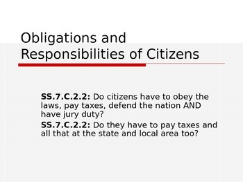 Obligations and Responsibilities of Citizens