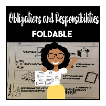 Obligations and Responsibility Foldable