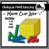 Oblique MAB block /base ten blocks clip art - 84 images