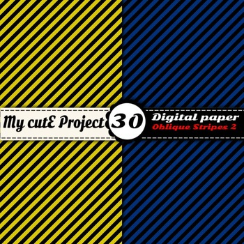 """Oblique Stripes 2 -DIGITAL PAPER - Instant Download - Scrapbooking - A4 & 12x12"""""""