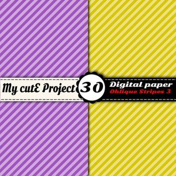"""Oblique Stripes 3 -DIGITAL PAPER - Instant Download - Scrapbooking - A4 & 12x12"""""""