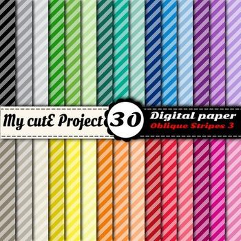 Oblique Stripes 3 -DIGITAL PAPER - Instant Download - Scra