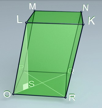 Oblique parallelepiped (3d video model)