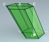 Oblique prism (3d video model)
