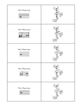 Oboe Fingering Flash Cards