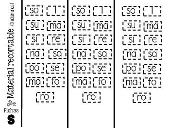 Observa, construyo y escribo - silabas simples