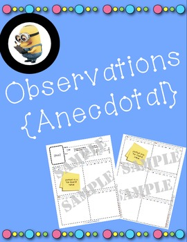 Observation Anecdotal Notes - Record Keeping Made Easy - A