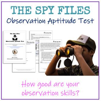 Observation Aptitude Test - The Spy Files