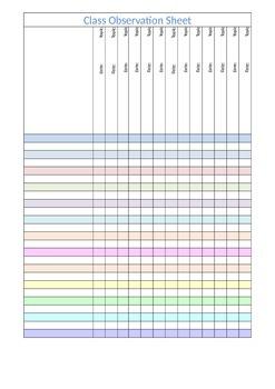 Observation Assessment Sheet {free}