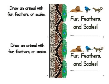 Observation Booklet: Fur, Feathers, & Scales