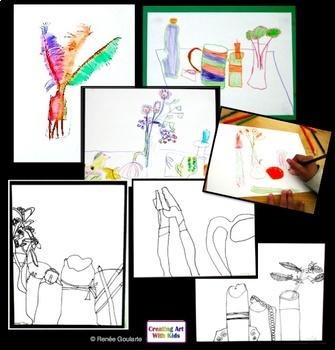 Art Lesson Bundle Still Life for Kids Science Integrated Observation Drawing