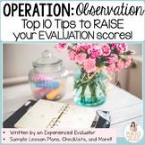 Observation & Evaluation Tips, Sample Lesson Plans, Checkl