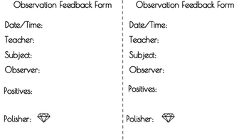 Amazing Observation Feedback Form