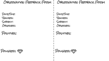 Observation Feedback Form