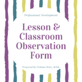 Lesson & Classroom Observation Form