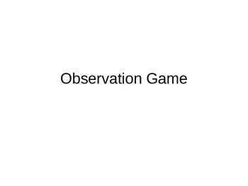 Observation Game
