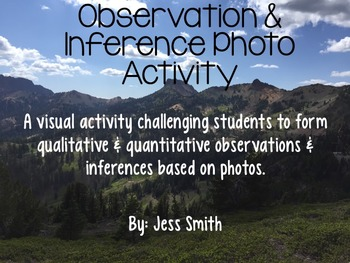 Observation and Inference Activity