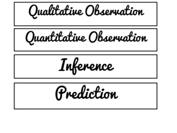 Observation, Inference, Prediction Card Sort