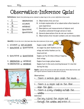 Observation-Inference Quiz