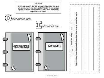 Observation and Inference Reading Comprehension Interactive Notebook
