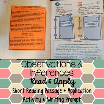 Observation and Inference Reading Comprehension Interactiv
