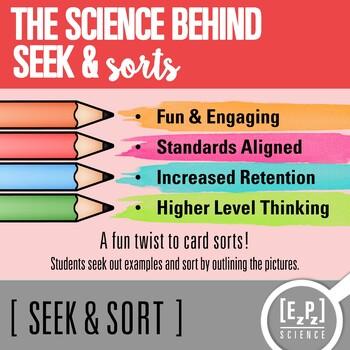 Observation & Inference Seek and Sort Science Doodle & Card Sort
