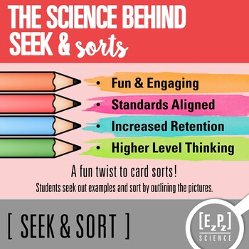 Observation & Inference Seek and Sort Science Doodle & Card Sort