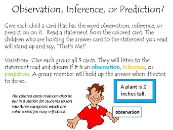 Observation Inference Or Prediction By Julie Lovell Tpt