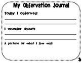 Observation Journal Frog Theme